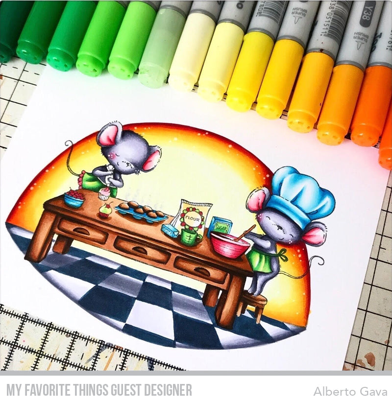 Copic coloring from Alberto Gava featuring products from My Favorite Things #mftstamps