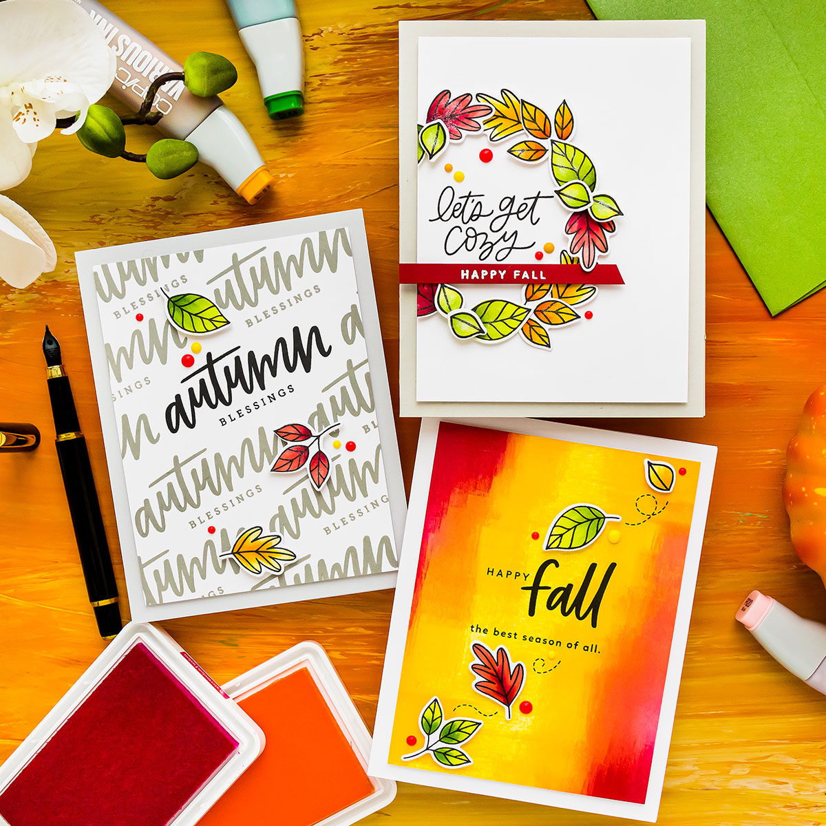 Handmade cards from Yana Smakula featuring products from My Favorite Things #mftstamps