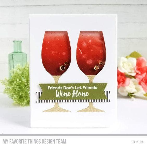 Wine Glass Shaker Window & Frame Die-namics