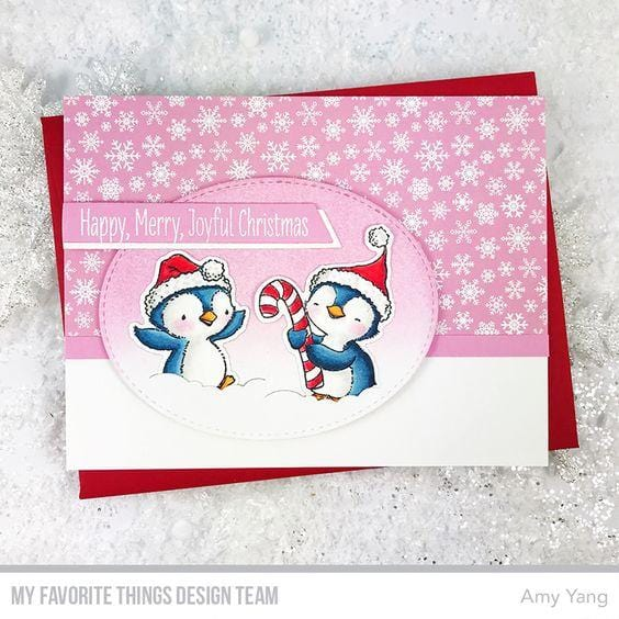 SY Sweet Holiday Penguins Die-namics