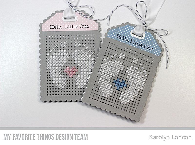 Scallop Cross-Stitch Tag Die-namics