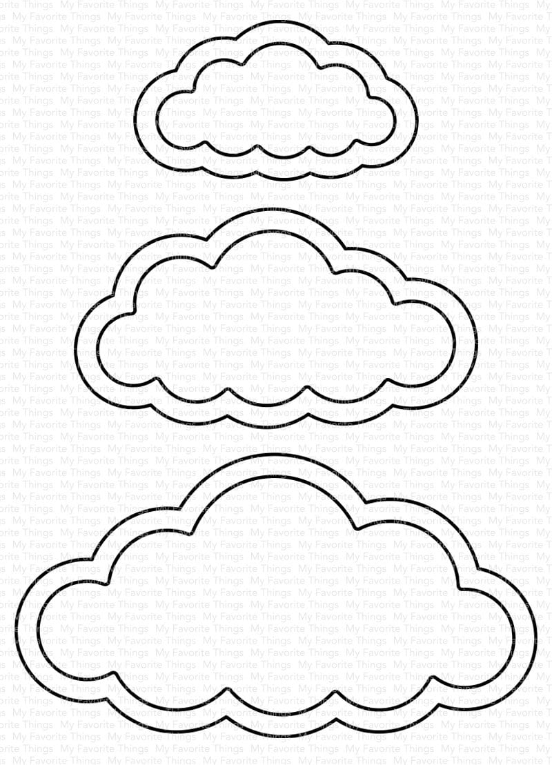Cute Cloud Outlines Die-namics