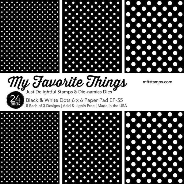 Black & White Dots Paper Pad