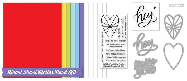 Heart Burst Hellos Card Kit