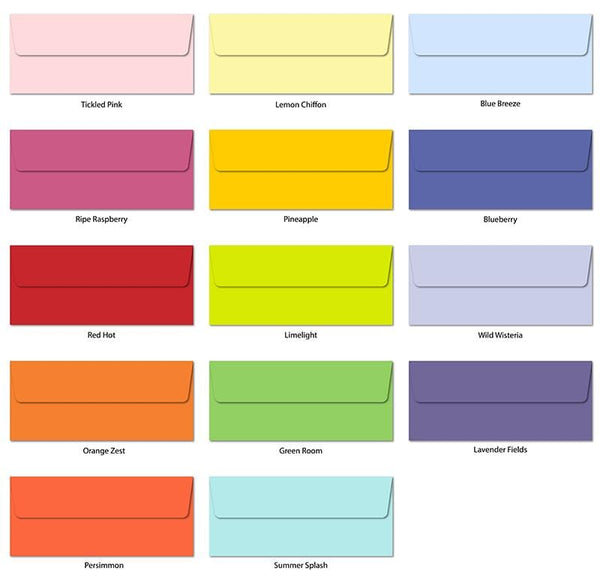 Rainbow Garden Slimline Envelopes