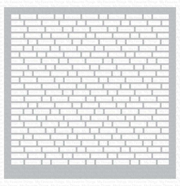 English Brick Wall Stencil