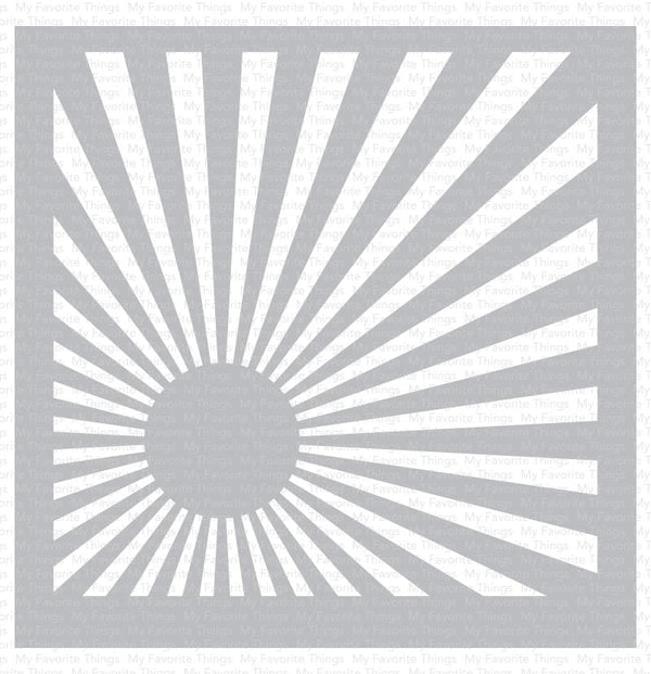 Sunrise Radiating Rays Stencil