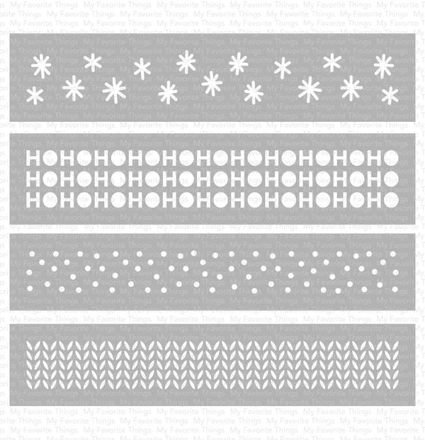 Winter Stencil Strips