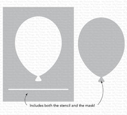 Big Balloon Stencil