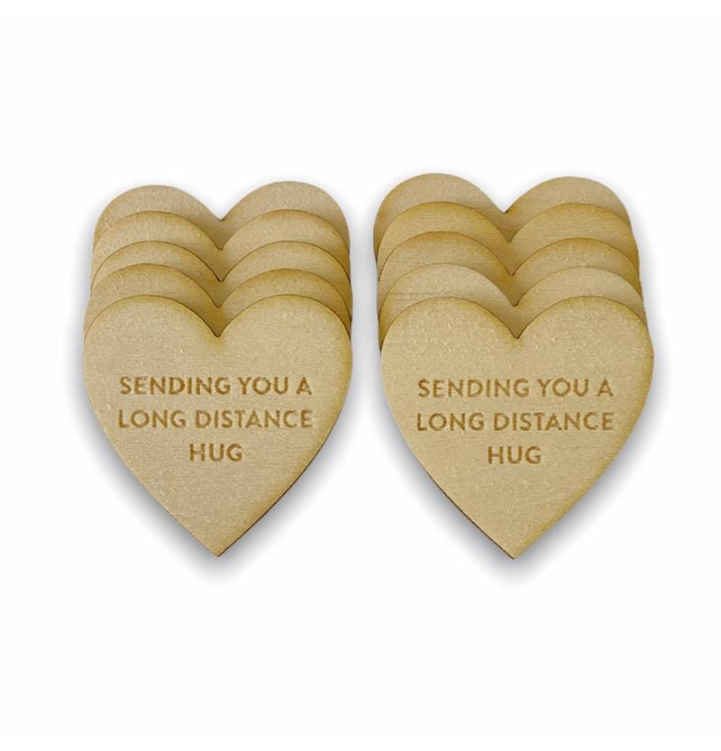 Long Distance Hugs Friendship Tokens