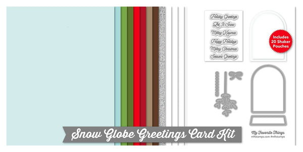 Snow Globe Greetings Card Kit