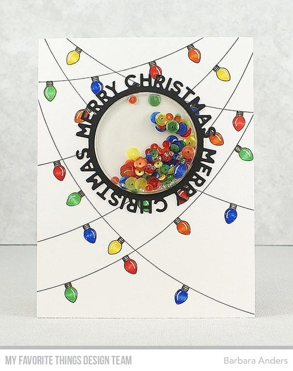 Merry Christmas Circle Frame Die-namics