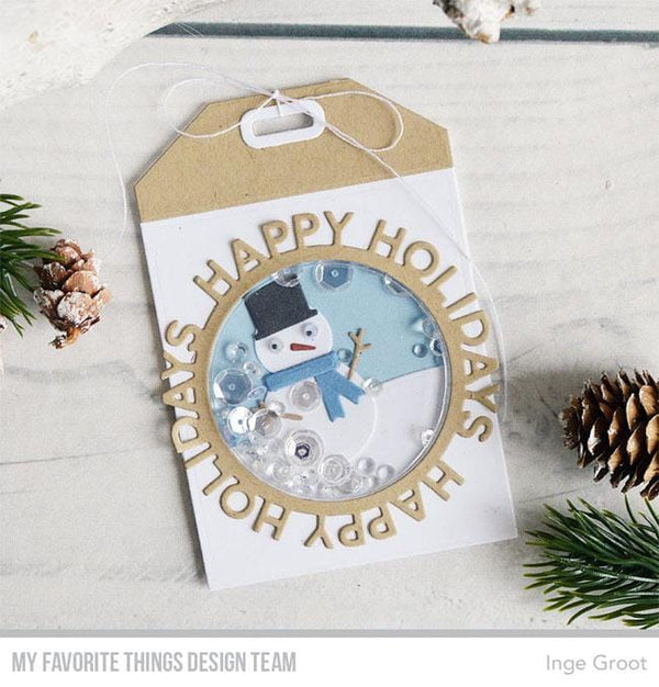 Happy Holidays Circle Frame Die-namics