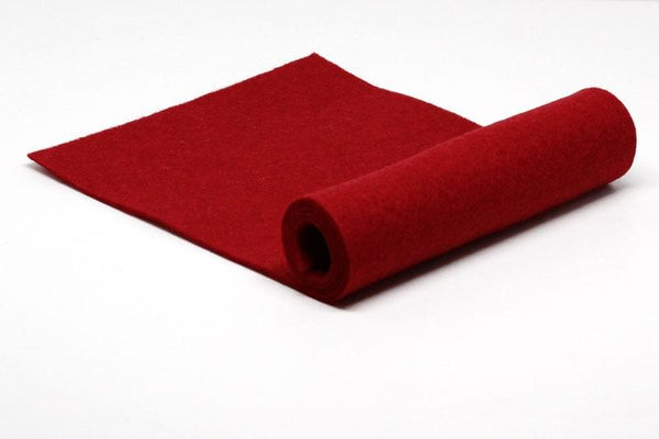 Electric Red Wool Felt