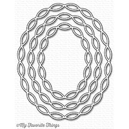 Linked Chain Oval Frames Die-namics