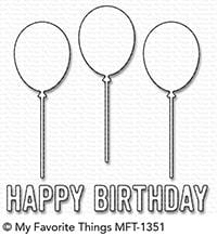 Happy Birthday Balloon Trio Die-namics