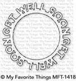 Get Well Soon Circle Frame Die-namics