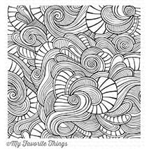 Wavy Coloring Book Background