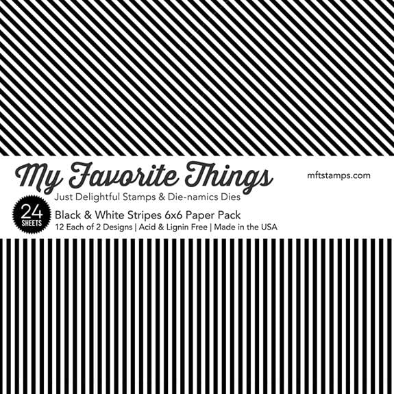 Black & White Stripes Paper Pad