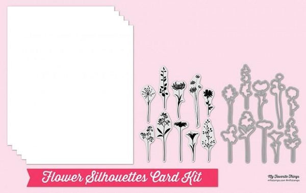 Flower Silhouettes Card Kit