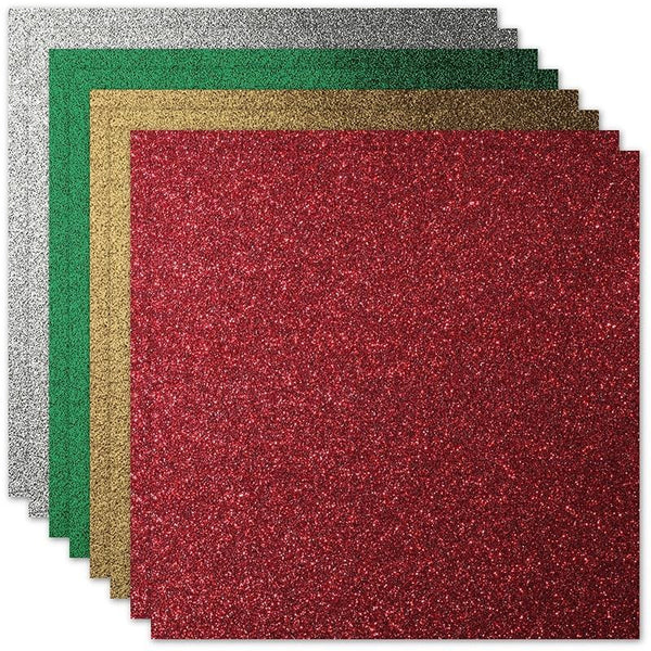 Holly Jolly Glitter Card Stock