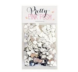 6 mm Silver Heart Confetti
