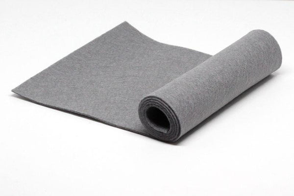 Steel Grey Wool Felt