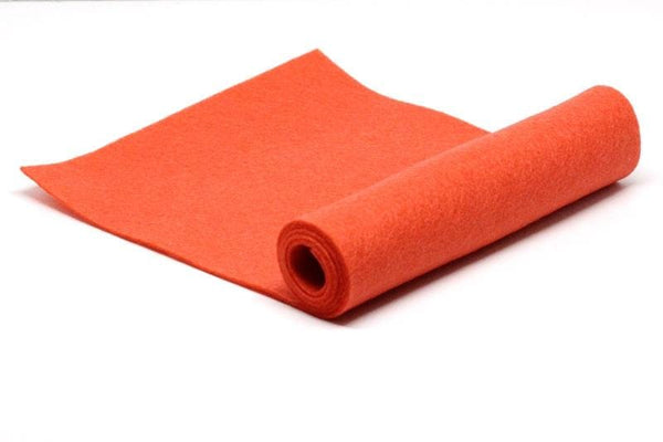 Tangy Orange Wool Felt