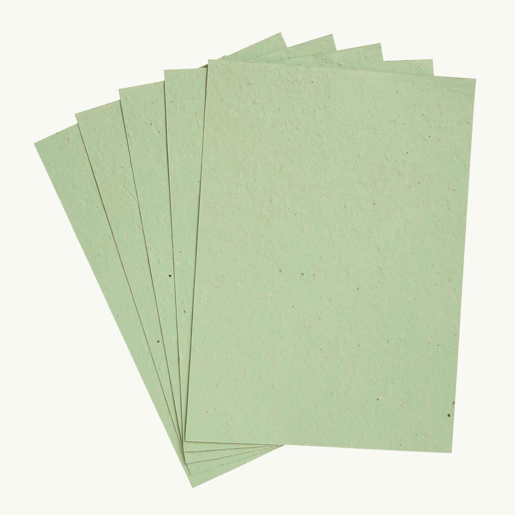 Olive Green Mixed Wildflowers Seed Paper