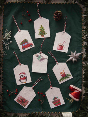 Christmas and New Year Themed Gift Tags (Set of 8) - Plantables
