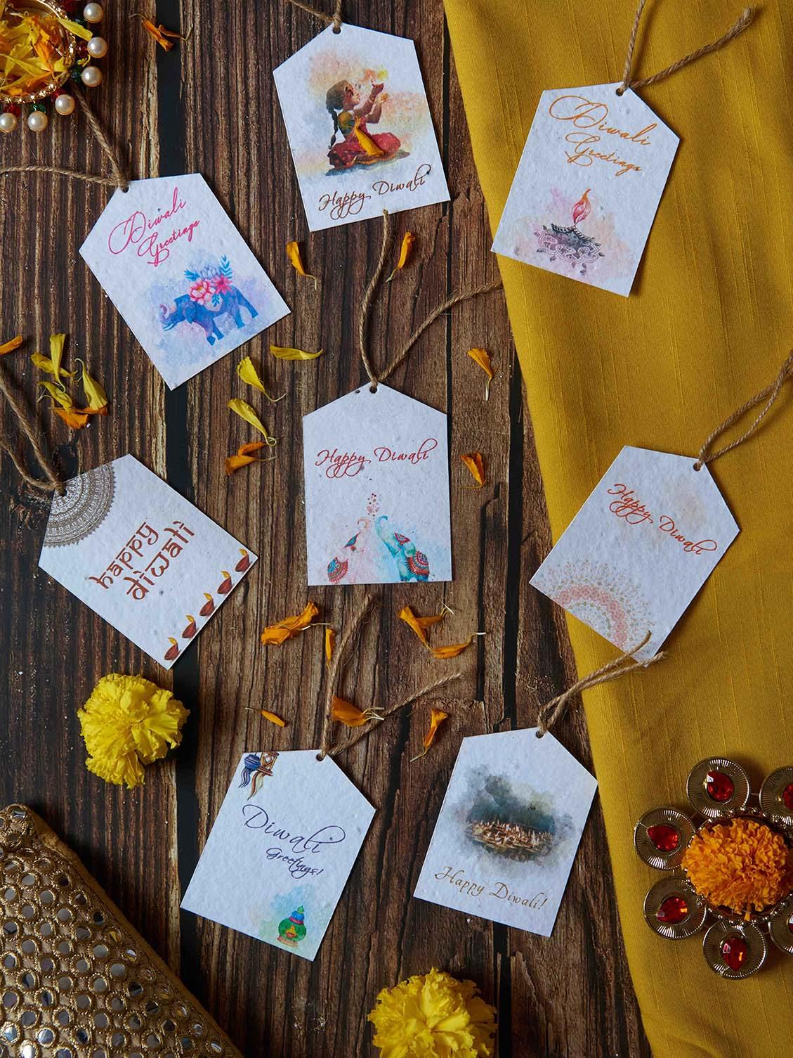 Diwali Gift Tags (Set of 8) - Plantables
