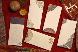 Mandala Mix Seed Paper Gift Envelopes (Set of 5) - Plantables