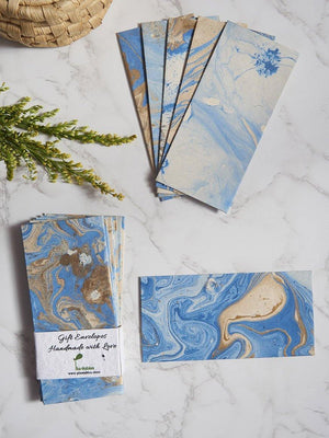 Starry Night Handmade Marble Paper Gift Envelopes (Set of 12) - Plantables