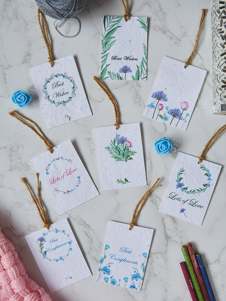 Wild Bloom Gift Tags (Set of 8) - Plantables