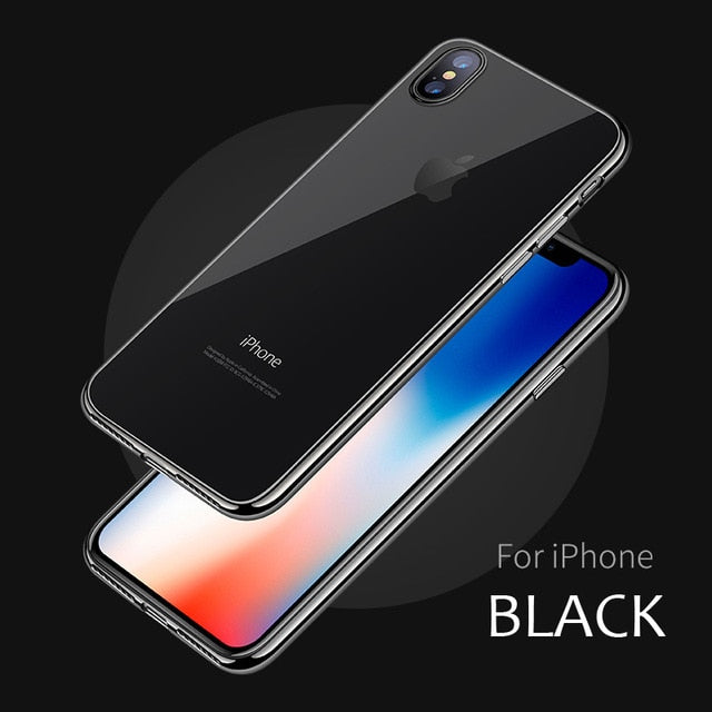 WeiFaJK Phone Case for iPhone 8 7 6 Plus 6s Silicone Soft Coque Luxury TPU Full Cover Case for iPhone 6 7 7 Plus 8 8 Plus X Case