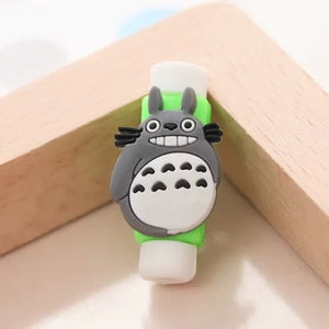 Cartoon Protector Cable Cord Saver Cover for iPhone Xs Max Case For iPhone 8 Plus For iPhone X 5 5S 6 6S 7 Plus Protective Cat
