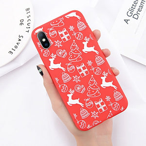 Lovebay Phone Case For iPhone 6 6s 7 8 Plus X XR XS Max Cute Cartoon Christmas Santa Claus Elk Soft TPU For iPhone 5 5S SE Cover