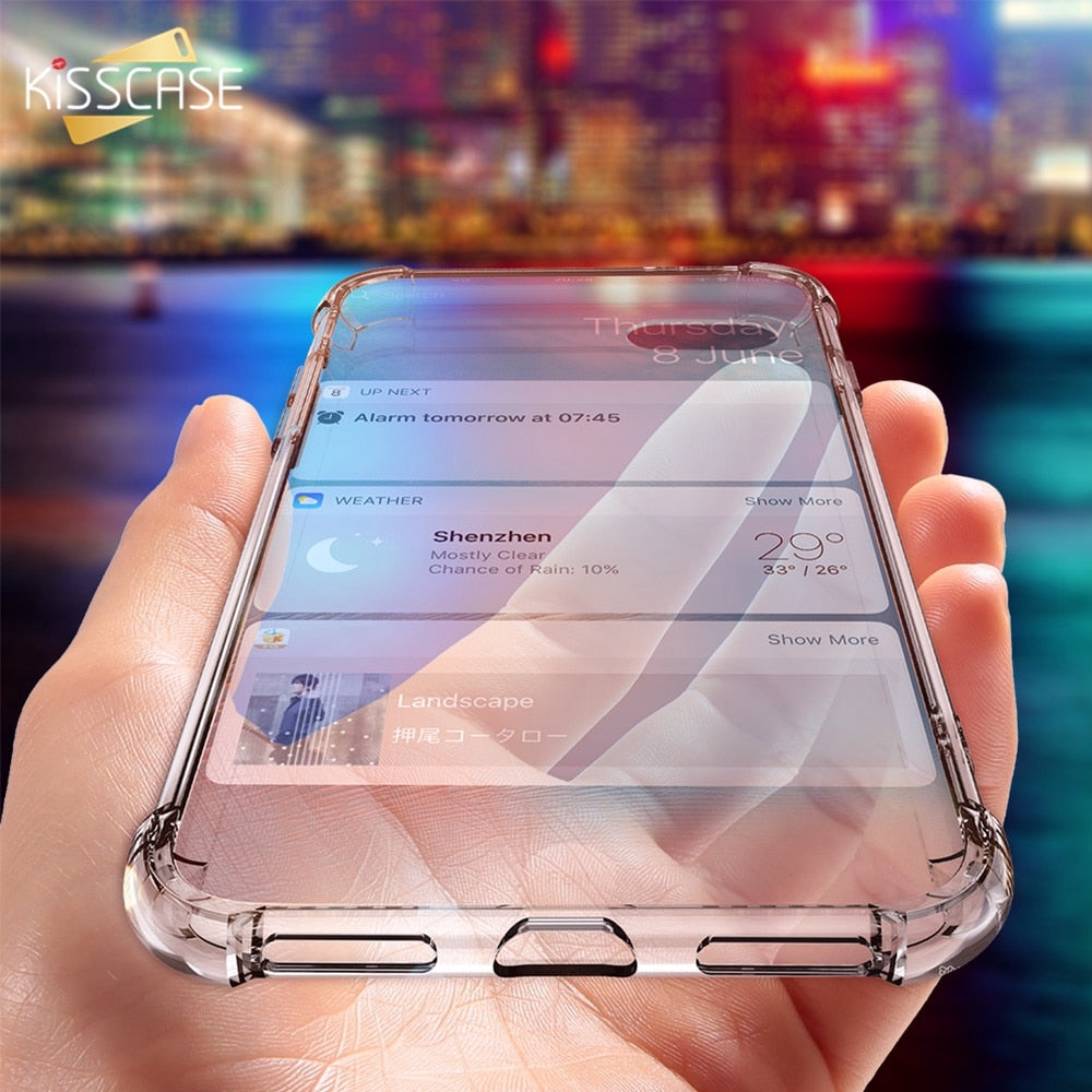 KISSCASE Case For iPhone X 6 7 8 Plus Phone Case For iPhone XS Max XR 5S 5 SE 7 Clear Shockproof Soft Silicone Transparent Cases