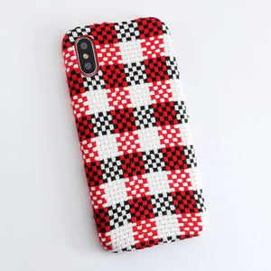 SoCouple Cloth Texture Soft case For iphone 7 Case Ultra-thin Canvas Grid Pattern Phone Cases For iphone 6 6S 7 8 Plus X Xs Max