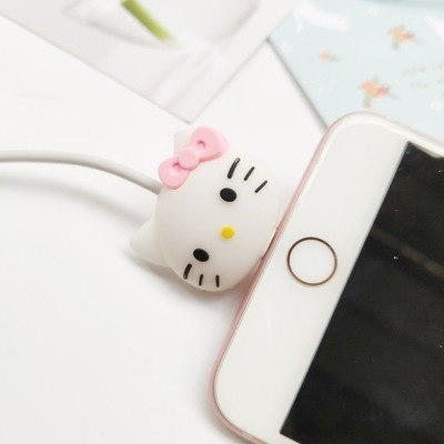 pop phone holder Cartoon Protector Cable Cord Saver Cover Coque For iPhone 8 Plus 5 5S SE 5C 6 6S 7 X Xs Max XR For Funda