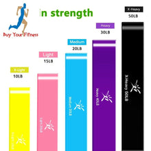 Load image into Gallery viewer, Resistance bands Latex Fitness Training exercise bands Set Rubber Loop Bands S