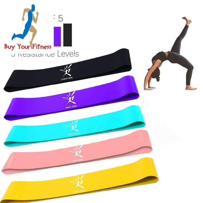 Resistance bands Latex Fitness Training exercise bands Set Rubber Loop Bands S