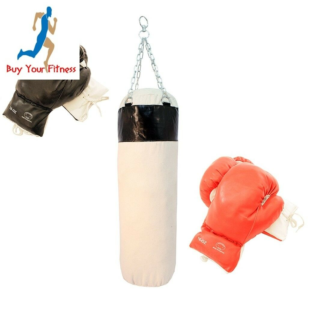 Pro Boxing Set of 2 Pairs Gloves with Punching Heavy Bag Punching Bag Boxing
