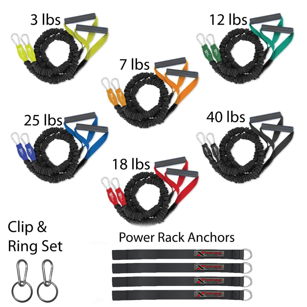 covered resistance bands for arm and shoulder care and rehab designed for working out and exercising the torso and upper body by using resistance exercise tubes that are covered and safe on the upper back, arms shoulder and chest. These bands are great for body builders, building muscle, protecting the shoulder and arm, rehabilitation after a shoulder or arm injury and prtecting your rotator cuff when lifting weights, doing crossfit and even workout out.