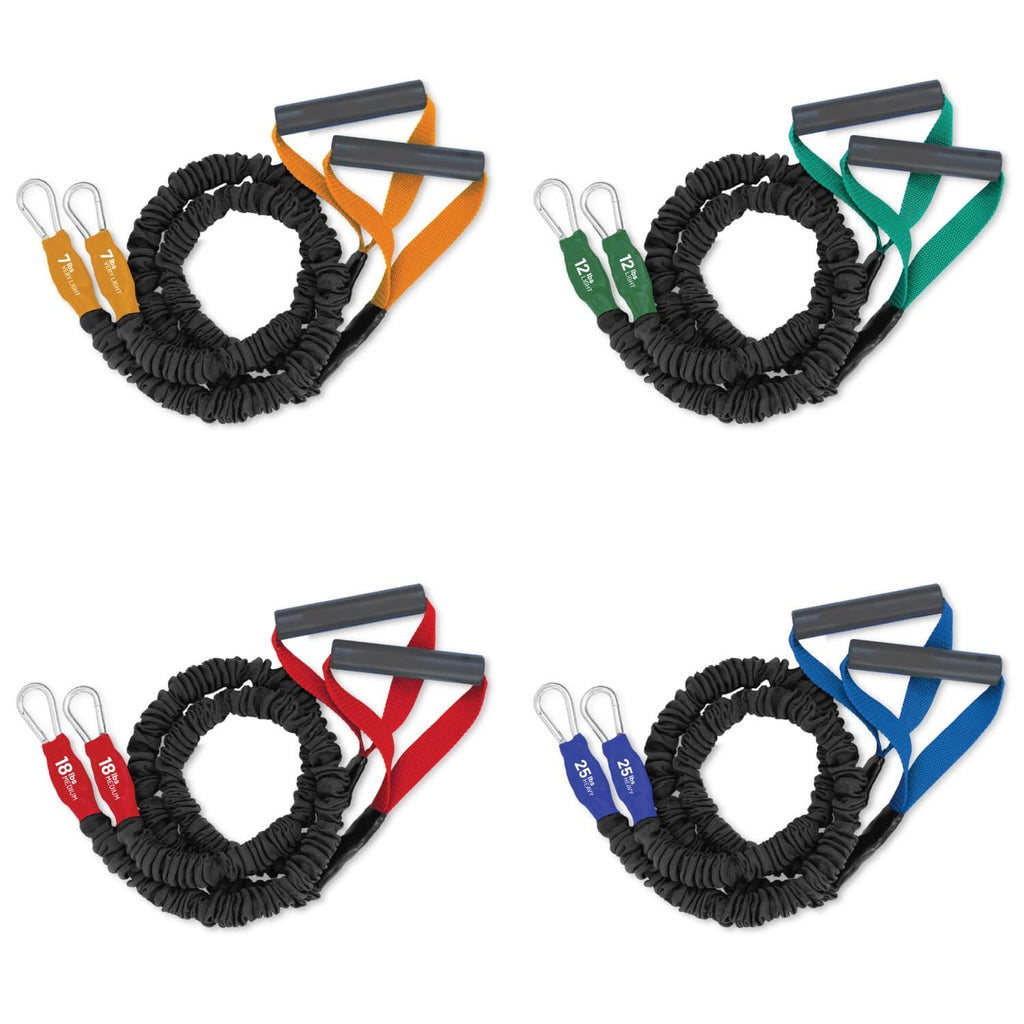 X-Over Arm and Shoulder Resistance Bands - 4 Pack