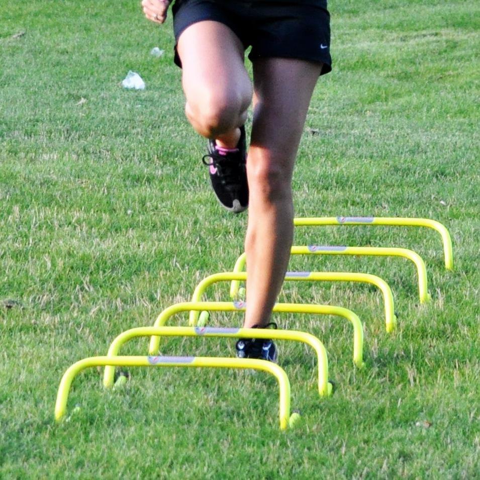 high quality hurdles for agility training. for high school, youth and college level agility training increase agility by improving side to side response and direction change time. For Faster reaction and directional changes on any field including football, rugby and soccer