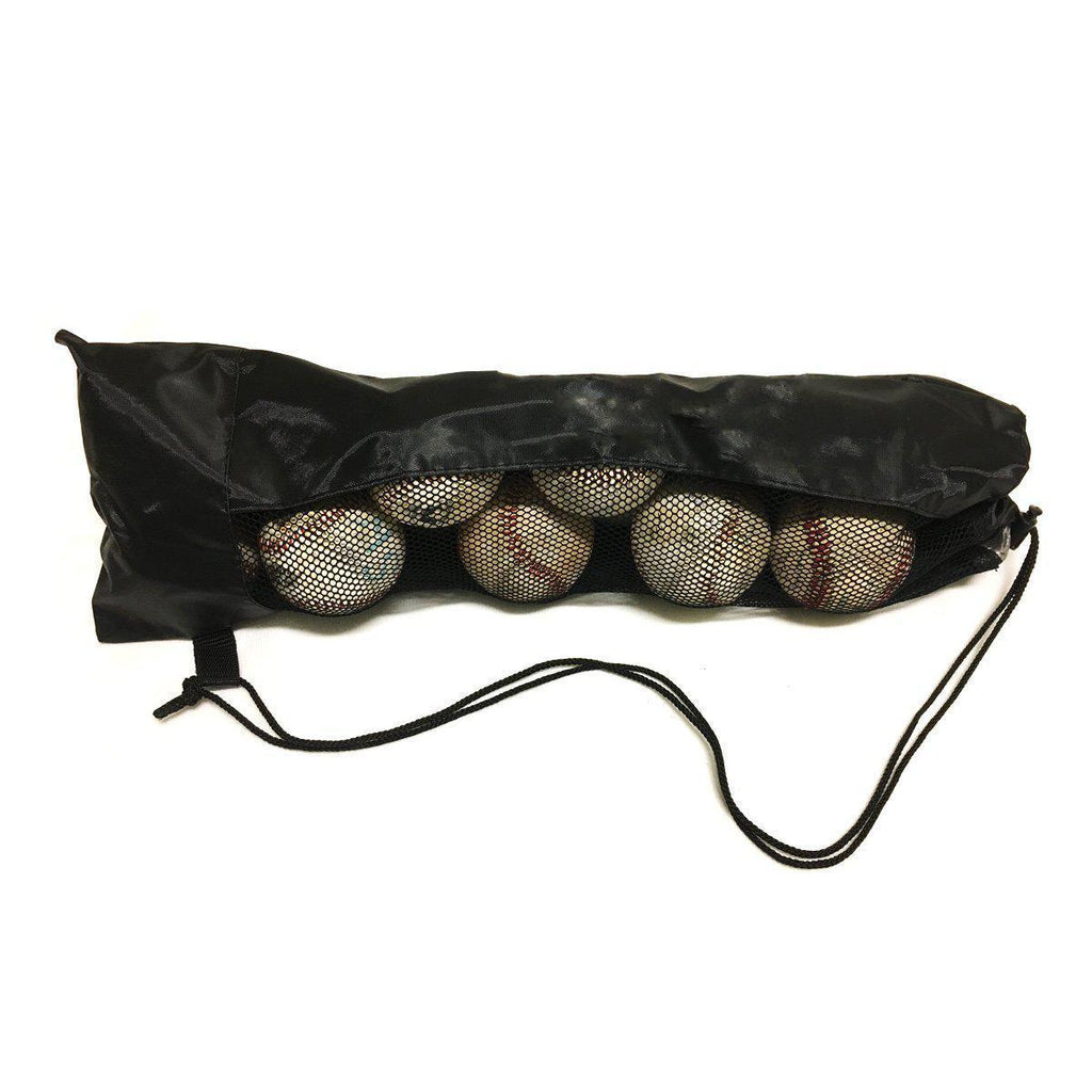 American made nylon baseball or softball bag. Best way to get balls to and from the field quick and easy. mesh for visibility and durable