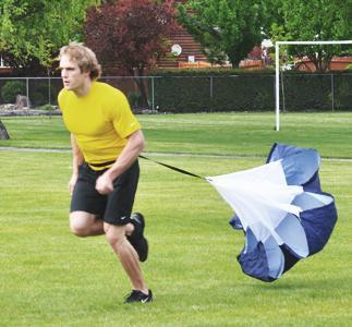 Increase speed by adding a parachute for resistance during training. Great for Football, soccer, rugby, baseball, softball, basketball, and hockey. Plus any sport where you need to run fast. Increases speed for endurance, distance, and burst speed. Increase your stride and speed for any running required for your sport