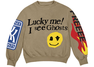 Kids See Ghosts Lucky Me Crewneck - Black Crown Fashion