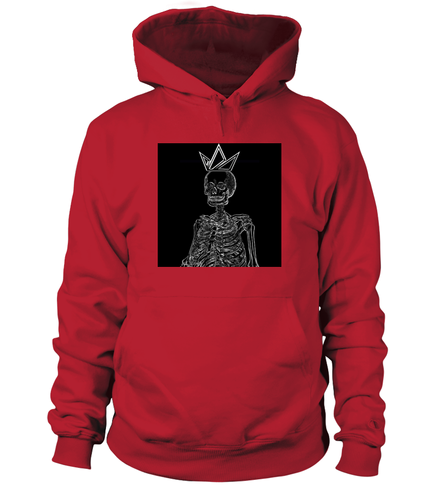 Black-Crowned Skeleton Signature Hoodie - Black Crown Fashion